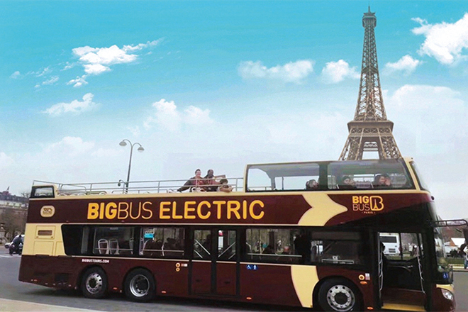 Electric bigbus charging project in Paris, France