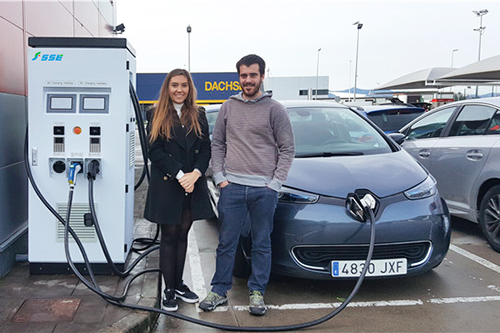 AC&DC 3-in-1 charger applied in Bilbao, Spain